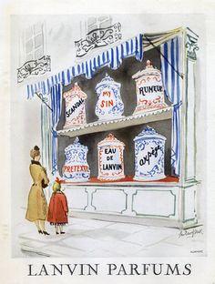 Lanvin (Perfumes) 1950 Guillaume Gillet, Arpège, Eau De Lanvin, Prétexte, My Sin, Scandal, Rumeur | Hprints.com