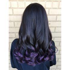 Purple hair tips!! Redken City Beats in Violet