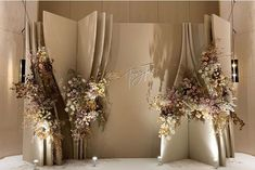Design and Decoration By Kaidang Design… Wedding Backdrop Design, Wedding Stage Design, Wedding Stage Decorations, Engagement Decorations, Backdrop Decorations, Flower Decorations, Wedding Designs, Backdrops, Wedding Entrance