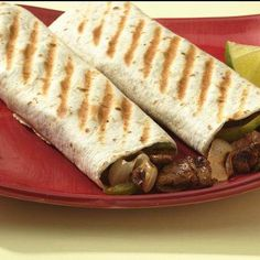 A contact grill cooks the filling in a flash for fajitas that are bursting with fresh flavors.