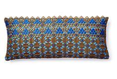 Dransfield & Ross Jordan 10x22 Linen Pillow, Cobalt on OneKingsLane.com