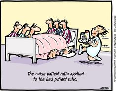 The nurse patient ratio applied to the bed patient ratio...