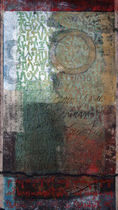 "Uncovering the Meaning, by Anne Moore, monotype, 19.5""x11"""