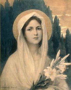 Elisabeth Sonrel (French 1874–1953) [Art Nouveau, Pre-Raphaelite]