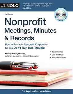 Find everything you need to keep your nonprofit organized, legal, and out of trouble. Nonprofit Meetings, Minutes & Records contains the essentials for every nonprofiteer to keep a proper paper trail. Business Money, Helping The Homeless, Career Development, Non Profit, Meet, Running, Volunteers, Cities, Organizations