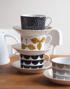 House of Rym cups with Iittala Teema plates / Kotilo blog