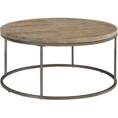 Palliser Furniture Julien Round Coffee Table with Acacia Wood Top Round Wood Coffee Table, Glass Top Coffee Table, Cool Coffee Tables, Wood Table, Coffe Table, Metal End Tables, Up House, Tiny House, Furniture Companies