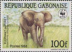 Gabonaise elephant stamp