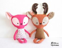 Deer Fawn Reindeer Softie Stuffed Toy PDF by DollsAndDaydreams, $10.00