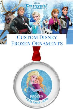 Custom Ana and Elsa ornament from the Official Disney store on Zazzle.com. Add a name and date for free!