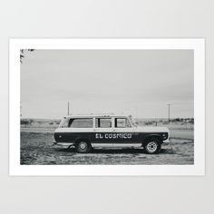El Cosmico Car, Marfa TX Art Print by Charity Barkley | Society6