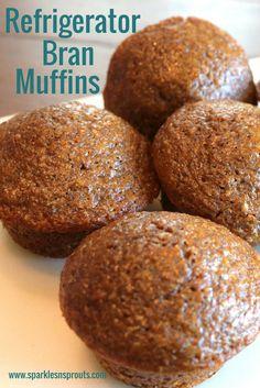 Kühlschrankkleie Muffins · Sparkles n Sprouts – Muffins Muffin Tin Recipes, Baking Recipes, 6 Week Bran Muffin Recipe, Dessert Recipes, Refrigerator Bran Muffin Recipe, Just Desserts, Healthy Muffin Recipes, Breakfast Muffins, Breakfast Dishes