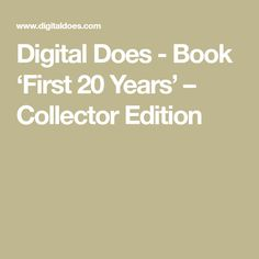Digital Does - Book 'First 20 Years' – Collector Edition