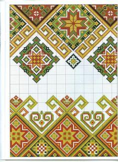 Easiest Crochet Frills Border Ever! Cross Stitch Borders, Crochet Borders, Cross Stitch Charts, Cross Stitching, Cross Stitch Patterns, Towel Embroidery, Folk Embroidery, Cross Stitch Embroidery, Embroidery Patterns