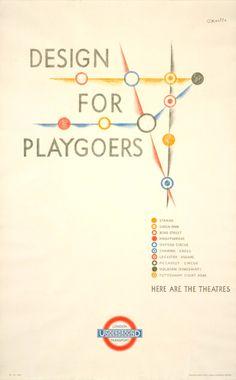 London Underground theatres poster