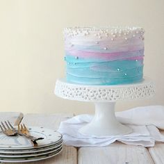 Blueberry Lavender Cake.#recipes.