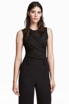Mouwloze top - Zwart - DAMES   H&M NL 1