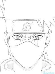 Naruto Coloring Book Pages - Have Fun with These Naruto Coloring Pages Ideas Hi anime lovers. You must know well about Naruto, right? It is a very good Japanese manga series. The pictures of Naruto are very interesting to see. Kakashi Drawing, Naruto Sketch Drawing, Anime Drawings Sketches, Anime Sketch, Anime Naruto, Naruto Art, Naruto Drawings Easy, Easy Drawings, Kakashi Hatake