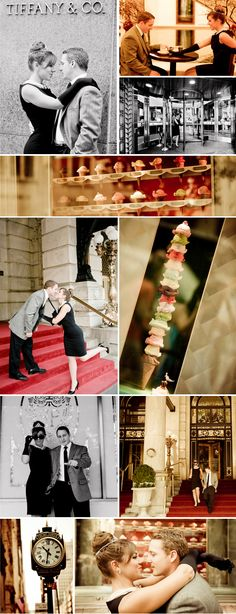 NYC Real Engagement - Breakfast At Tiffany's Inspired!! Designed by Lela New York