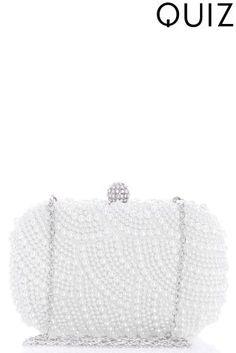 Quiz Pearl Box Clutch Bag Uk Online, Clutch Bag, Clutches, Clutch Purse, fdb194454b