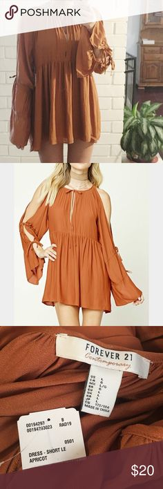 NWT sz lg boho dress boho , tie dress , size large , new with tags Forever 21 Dresses