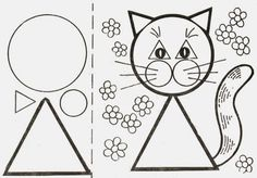 üçgen etkinlikleri,daire etkinlikleri,kare etkinlikleri,dikdörtgen etkinlikleri,üçgen çalışma sayfası,daire çalışma sayfası,kare çalışma sayfası,kare etkinliği, Geometry Activities, Fun Activities For Kids, Kindergarten Activities, Preschool, Drawing For Kids, Art For Kids, Crafts For Kids, Triangle Worksheet, Fine Motor