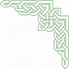 Celtic Lines - Machine Embroidery Designs at Splinters & Threads <--This would look fabulous on either side of a front placket/keyhole neck Celtic Knots, Celtic Symbols, Celtic Art, Quilting Designs, Machine Embroidery Designs, Embroidery Patterns, Quilt Patterns, Border Pattern, Pattern Art