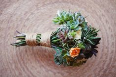 amazing wedding bouquet from succulents!