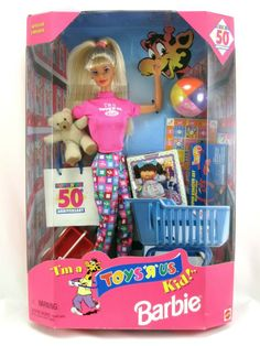 NEW 1997 SPECIAL EDITION I'M A TOYS R KID US BARBIE DOLL MATTEL 50TH ANNIVERSARY #Barbie