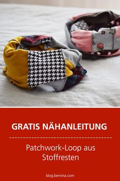 Free sewing instructions: Patchwork loop from fabric remnants # sew # sewing projects # . - Free sewing instructions: Patchwork loop made from fabric remnants # sewing projects - Sewing Hacks, Sewing Tutorials, Sewing Projects, Sewing Patterns, Crochet Patterns, Crazy Patchwork, Patchwork Pillow, Fabric Remnants, Fabric Scraps