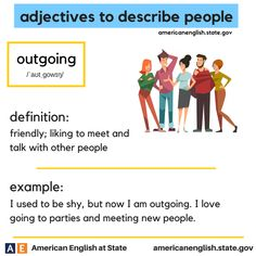 adjectives to describe people: outgoing