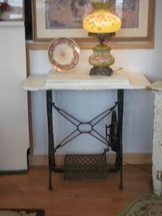 One of a Kind Antique Sewing Machine Stand by UltimateShabbyChic, $105.00