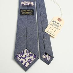 Chambray necktie, General Knot & Co.