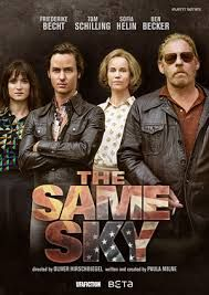 The Same Sky The Same Sky is a TV miniseries set in Cold War Germany and it portrays fates of two families on either side of the Berlin Wall. The six-hour series is written by Paula Milne and directed by Oliver Hirschbiegel and stars Sofia Helin and Tom Schilling.