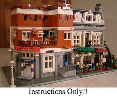 60+ CUSTOM LEGO INSTRUCTIONS like Modular Hair Salon - 10243 Parisian Restaurant