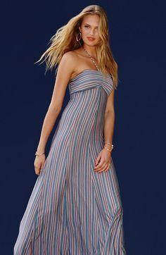 Stripe Jersey Halter Maxi Dress http://rstyle.me/n/jqq5vnyg6