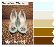 {High Heels}: A Palette of Aqua, Silver   Warm Neutrals