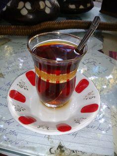 Good Turkish tea anywhere, anytime :) Turkish Tea, Tableware, Dinnerware, Tablewares, Dishes, Place Settings