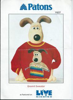 PDF File  Gromit Knitting Intarsia Knitting by RetroNeedles, $1.50
