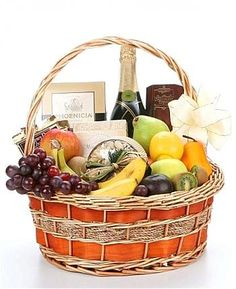 Looking for a hand-delivered gift basket?  With Champagne?! Look no further because this deliciously uniquefruit basket is the perfect gift for your special recipients!  Elegantly filled with fresh fruit, gourmet foods and highlighted by a bottle of champagne; this supreme gift basket will delight them so send it today! $139.99, $149.99, $164.99  http://www.littlegiftbasketboutique.com/item_1096/Champagne-Fruit-Gourmet-Gift-Basket.htm