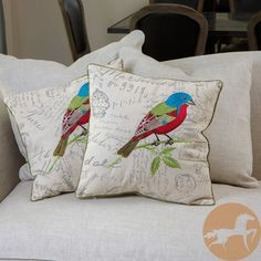 Christopher Knight Home Embroidered Bird Pillows (Set of 2) Bird Pillow, Pillow Set, Manor Stone, Embroidered Bird, Embroidered Pillows, Home Decor Furniture, Room Inspiration, Decorative Accessories, Printing On Fabric