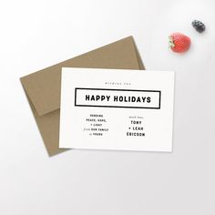Modern Holiday Photo Card | Minimalist Holiday | Hipster Christmas | Newlywed Christmas | Christmas Card | Custom Card