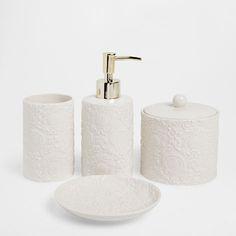 RAISED FLORAL CERAMIC BATHROOM SET - Accessories - Bathroom | Zara Home Hungary