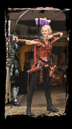 female archer leather outfit by ~Lagueuse on deviantART