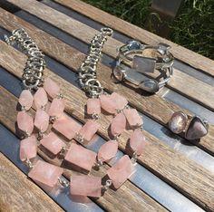 Powder pink with an edge. Stephen Dweck jewelry