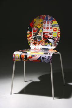 How transfer POP ART on a chair.