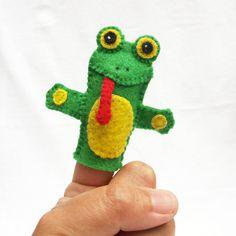 Rana marioneta de dedo fieltro marionetas de animales