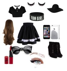 """Modern Black with a hint of sweetness"" by callanfs on Polyvore"
