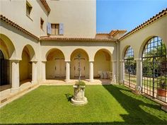 The four-level mansion is just over 10,000 square feet and sits high on a hill overlooking the coast and nearby Menton.