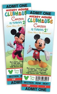 Mickey Mouse Ticket Invitations Template Best Of Mickey Mouse Birthday Party Minnie Y Mickey Mouse, Theme Mickey, Mickey Mouse Parties, Mickey Party, Elmo Party, Dinosaur Party, Dinosaur Birthday, Mickey Mouse Clubhouse Birthday Party, Mickey Mouse Birthday